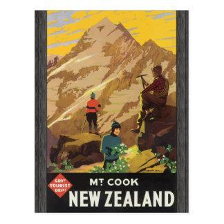 Govt Tourist Dept Mt Cook New Zealand, Vintage Postcard