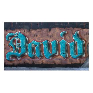 Graffiti Tag: David Pack Of Standard Business Cards