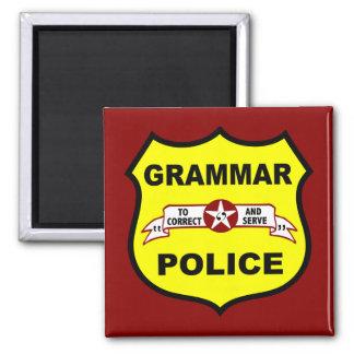 Grammar Police Square Magnet