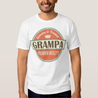 Grampa Fathers Day funny vintage Mens T-shirt