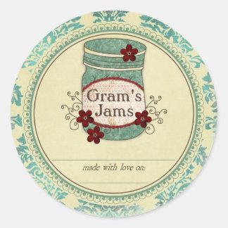 Gram's Jams Preserves Stickers
