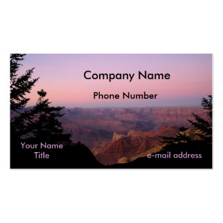 Grand Canyon Pack Of Standard Business Cards