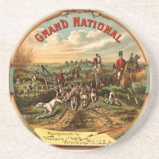 Grand National Fox Hunt - Cigarette Advertising Tr Sandstone Coaster