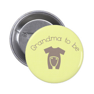 Grandma to Be (Neutral) Button
