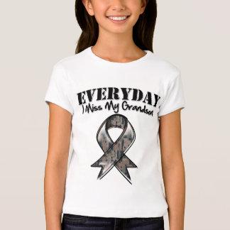 Grandson - Everyday I Miss My Hero Military T Shirt