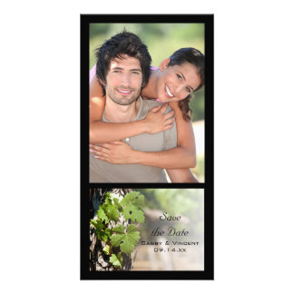 Grapes Leaves Vineyard Wedding Save the Date Personalised Photo Card