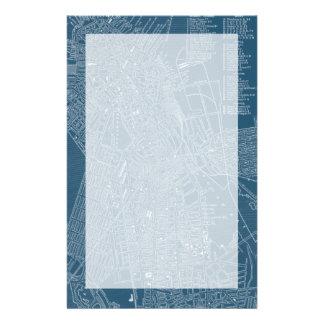 Graphic Map of Boston Custom Stationery