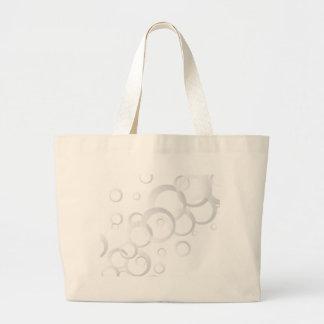 Gray Circular Background Jumbo Tote Bag