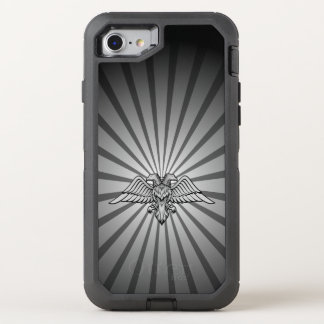 Gray eagle with two heads OtterBox defender iPhone 7 case
