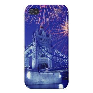 Great Britain, London. Fireworks over the Tower iPhone 4 Covers