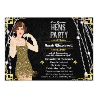 Great Gatsby Art Deco Hens Party Invitation