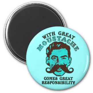 Great Moustache 6 Cm Round Magnet