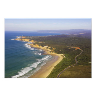 Great Ocean Road and Split Point Lighthouse, Art Photo
