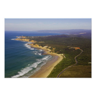 Great Ocean Road and Split Point Lighthouse, Poster