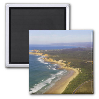Great Ocean Road and Split Point Lighthouse, Square Magnet