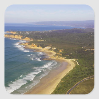 Great Ocean Road and Split Point Lighthouse, Square Sticker