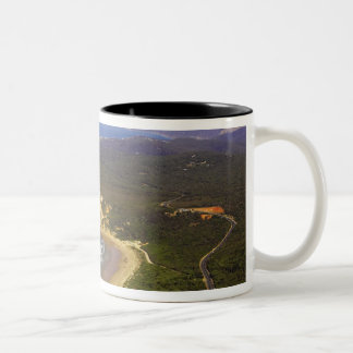 Great Ocean Road and Split Point Lighthouse, Two-Tone Mug