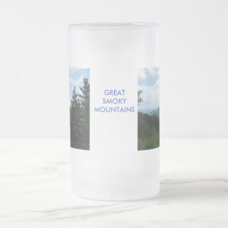 Great Smoky Mountains Frosted Glass Mug