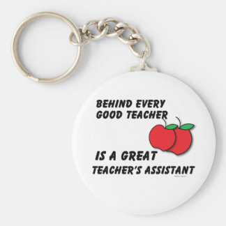 Great Teacher's Assistant Basic Round Button Key Ring