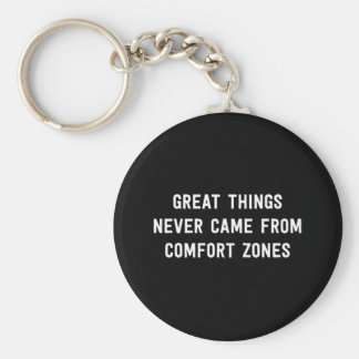 Great Things Never Came From Comfort Zones Basic Round Button Key Ring