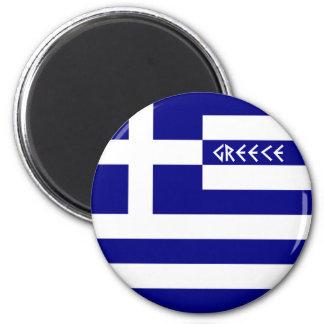 Greece 6 Cm Round Magnet