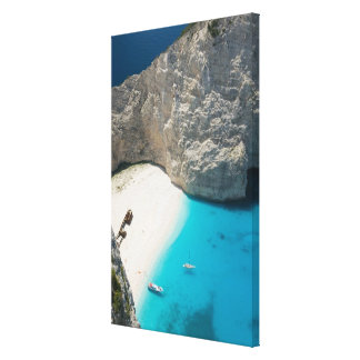 GREECE, Ionian Islands, ZAKYNTHOS, SHIPWRECK Stretched Canvas Print