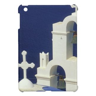 Greece, Santorini. View of a Greek church and iPad Mini Cases