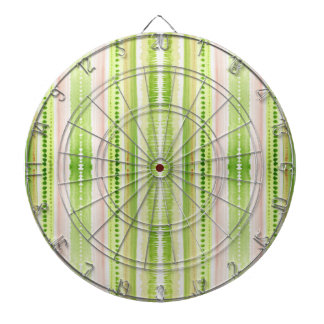 Green abstract striped watercolor pattern dart board