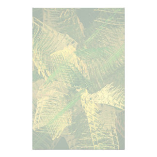 Green and gold abstract customised stationery