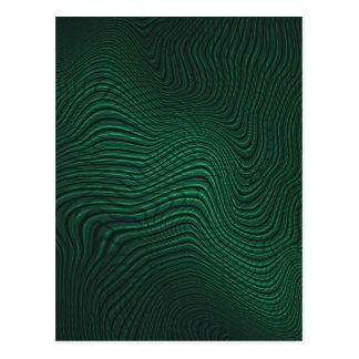 Green animal print postcard