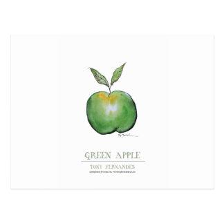 green apple, tony fernandes postcard