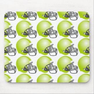 green baseball helmet for baseball fun. White back Mouse Pad