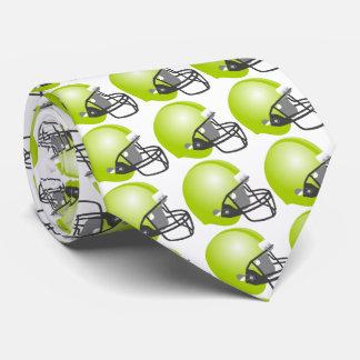 green baseball helmet for baseball fun. White back Tie