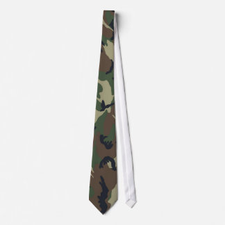 Green Brown Camouflage Neck Tie