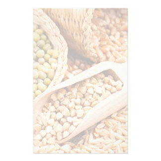 Green Buckwheat, Wheat, Oat And Mung - Cereal Customized Stationery