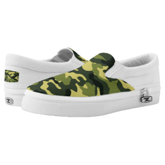 Green Camouflage Printed Shoes