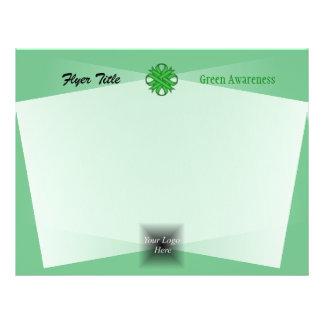 Green Clover Ribbon 21.5 Cm X 28 Cm Flyer