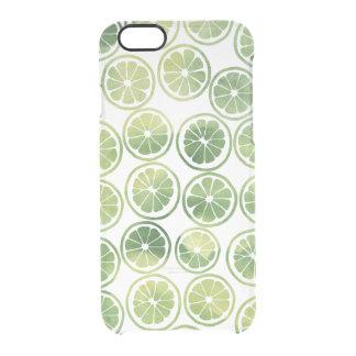 Green Cute Citrus Pattern Clear iPhone 6/6S Case