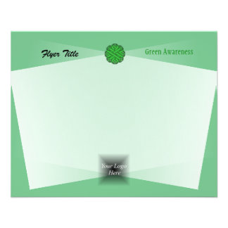 Green Flower Ribbon 11.5 Cm X 14 Cm Flyer