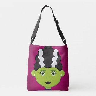 Green girl monster tote bag