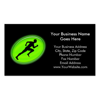 Green Glow Fitness and Personal Training Logo Pack Of Standard Business Cards