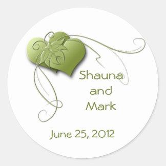 Green Hearts Sticker