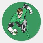 Green Lantern Fly Forward Round Sticker