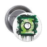 Green Lantern Graffiti Symbol 6 Cm Round Badge