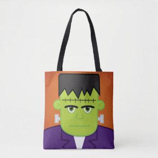 Green monster tote bag