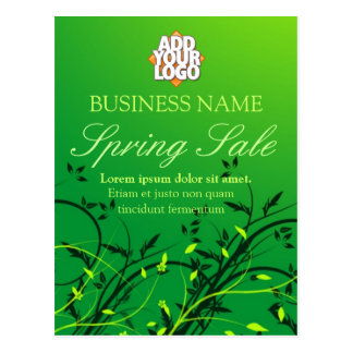 Green Nature Spring Sale Business Postcard