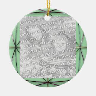 Green Ribbon Picture Ornament