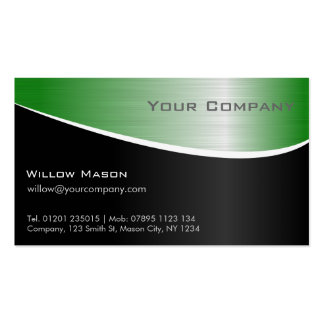 Green Steel Effect, Professional Business Card
