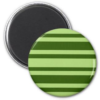 Green Stripes custom magnet