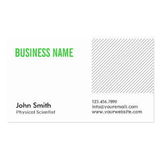 Green Title Physical Scientist Business Card